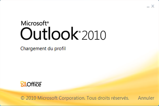 Outlook 2010 : options de lignes commandes